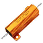 New 5pcs RX24 50W 10R 10RJ Metal Aluminum Case High Power Resistor Golden Metal Shell Case Heatsink Resistance Resistor