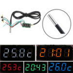 New 0.28 Inch 3-in-1 Time + Temperature + Voltage Display DC7-30V Voltmeter Electronic Watch Clock Digital Tube