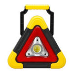 New Solar+USB Charging Tripod Warning Light Cob Work Lamp Car Emergency Lighting