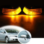 New Right Rearview Mirror Side Turn Car Lights Amber LED For Honda Civic 2006-2011