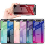 New Bakeey Gradient Color Shockproof Tempered Glass Protective Case for Samsung Galaxy A80 2019