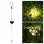New Solar Powered 8 Modes Warm White Sliver Wire Starburst Firework 90LED String Light for Christmas Wedding Garden