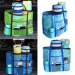 New Swimming Handbag Women Mesh Beach Bag Cosmetic Pouch Portable Surfing Storage Tote Bags For Balls Beach Mat & Kids Toys