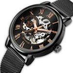 New FORSING FSG-660G Mesh Steel Band Mechanical Watches