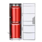 New USB Small Car Refrigerator Office Computer Ice Refrigerating Heating DC 5V