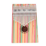 New GUISTAR GS-17 17 Keys Colourful Mahogany Kalimba Thumb Piano Finger Percussion with Bag Set