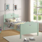 New Double Bed Frame Twin Platform Bed with Wood Slat Support and Headboard and Footboard