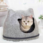 New Heypet Cat Bed Pet House Cats Mat Pet Hole House Bench for Dog Puppy Home Nest Pet Cat Ear Kennel  Pet Mat