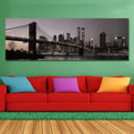 New DYC 10977 Single Spray Oil Paintings Bustling City Building Scenery For Home Decoration Paintings Wall Art