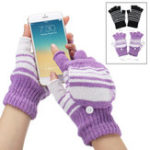 New Electric USB Heated Motorcycle Gloves Winter Warmer Unisex Knitting Thermal Glove Xmas Gift