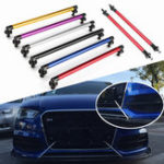 New Universal 200mm Adjustable Front Rear Bumper Protector Lip Splitter Rod Support Bars Kit
