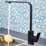 New Modern Kitchen Sink Taps Mixer Single Lever Tap Square Mono Basin Brass Faucet