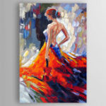 New Hand Painted Oil Paintings Famous Modern Stretched Canvas Wall Art For Home Decoration Paintings