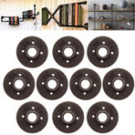 New 50pcs 3/4 Inch Black Malleable Iron Floor Flange Fitting Pipe NPT Antique Wall Flange Seat