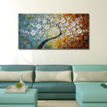 New Hand Painted Oil Paintings Floral Modern Stretched Canvas Wall Art For Home Decoration Paintings