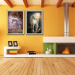 New Miico Hand Painted Combination Decorative Paintings Dream Word Horse Wall Art For Home Decoration
