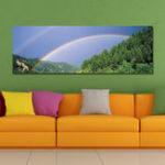 New DYC 10429 Single Spray Oil Paintings Photography Rainbow WallArt For Home Decoration