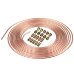 New Roll Copper Steel 25 ft. 3/16″ Brake Line Pipe Tubing with 20 Pcs Kit Fittings Brake Female Male Nut