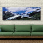 New DYC 10360 Single Spray Oil Paintings Photography Snow Mountain For Home Decoration Paintings Wall Art