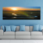 New DYC 10961 Single Spray Oil Paintings Grassland Sunrise Scenery For Home Decoration Paintings Wall Art