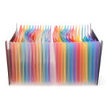 New 24 Pockets Multi Color Convenient Expanding A4 File Folder Business File Supplies