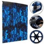 New PVA Hydrographic Film Water Transfer Printing Film Hydro Dip Blue Fire Style Decorations