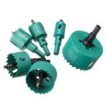 New 6pcs 22/30/35/45/50/65mm M42 HSS Hole Saw Cutter Green Metal Tip Drill For Aluminum Iron Wood