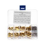 New 180Pcs M2.5 Brass Male-Female Hex Column Standoff Support Spacer Pillar Cross Screw Nut Assortment for PCB Board