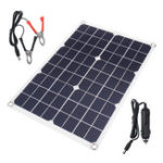 New 20W DC5V Monocrystalline Ultra-thin Solar Panel Rear Wiring USB Port