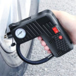 New 12V Portable Air Tire Inflator Pump LED Safety Hammer Compressor Cordless For Motorcycle Electric Auto Car Bike