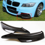 New 2PCS Carbon Fiber Board Front Bumper Splitter Lip for BMW E90 335i 328i LCI M-Tech Bumper