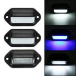 New 10V-30V LED License Number Plate Lights Lamp For Trailer Truck Boat Van Caravan