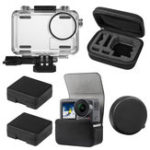 New SheIngKa 40M Protective Case Shell Bag Battery Case Lens Cap for DJI OSMO Action Sports Camera