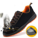 New Men's Safety Shoes Steel Toe Work Sneakers Slip Resistant Waterproof Breathable Hiking Climbing Running Shoes