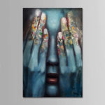 New Hand Painted Oil Paintings People Comtemporary Simple Modern Stretched Canvas Wall Art For Home Decoration