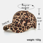 New Women Men Leopard Baseball Cap Breathable Sun Hat