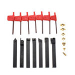 New 21PCS 12mm Carbide Inserts Turning Tool Holder Boring Bar DCMT CCMT With Wrenches For CNC Lathe Cutter Tools