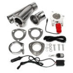 New Electric Exhaust Valves Catback Downpipe Systems Kit Remote Intelligent E-Cut Muffler