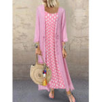 New Polka Dot Straps Cardigan Two-piece set Maxi Dress