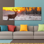New DYC 10677 Single Spray Oil Paintings Forest Sunrise Wild Deer Scenery For Home Decoration Paintings Wall Art