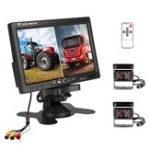 New 7 inch Monitor Display Truck Wireless Dual Waterproof Camera 2.4G Night Vision Reversing