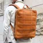New Men Large Capacity Genuine Leather Business Bag Backpack