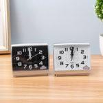 New Silent Alarm Clock Quartz Movement Battery Alarm Clock Home Desk Table