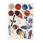 New Space Planet Wall Sticker Planet Carton DIY Kids Nursery Baby Room Art Removable Decorations