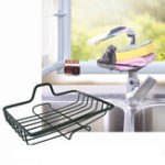 New Mini Drain Rack Kitchen Sink Faucet Sponge Soap Cloth Storage Dish Drying Holder Shelf