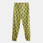 New Men Pineapple Printed Hawaiian Style Cotton Casual Pants