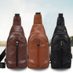 New Men Multifunctional Luxury Casual Daily Outdoor USB Chest Bag Shoulder Bag