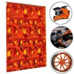 New 50X100cm Fire Fist Hydrographic Water Transfer Film Hydro Dipping Print Carbon