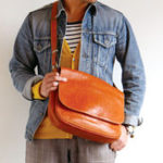 New Men Vintage Faux Leather Outdoor Crossbody Bag