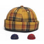 New Landlord Cap Dome Cap Innocent Plaid Sailor Cap
